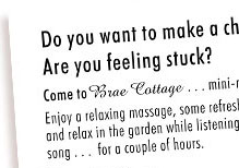 Brae Cottage Flyer