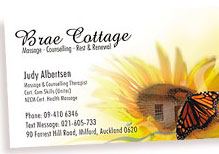Brae Cottage Business Card