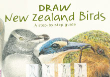 Draw New Zealand Birds - Book Cover