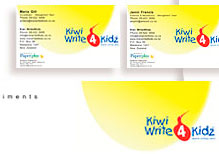 Kiwi Write4Kidz - Logo, Letterhead, With Compliments Slip